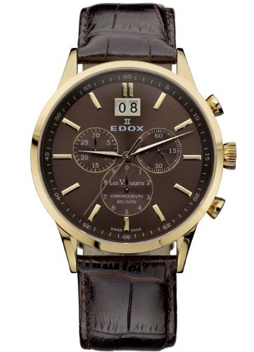 Edox Men's 10010 37RB BRIR Les Vauberts Chronograph Watch